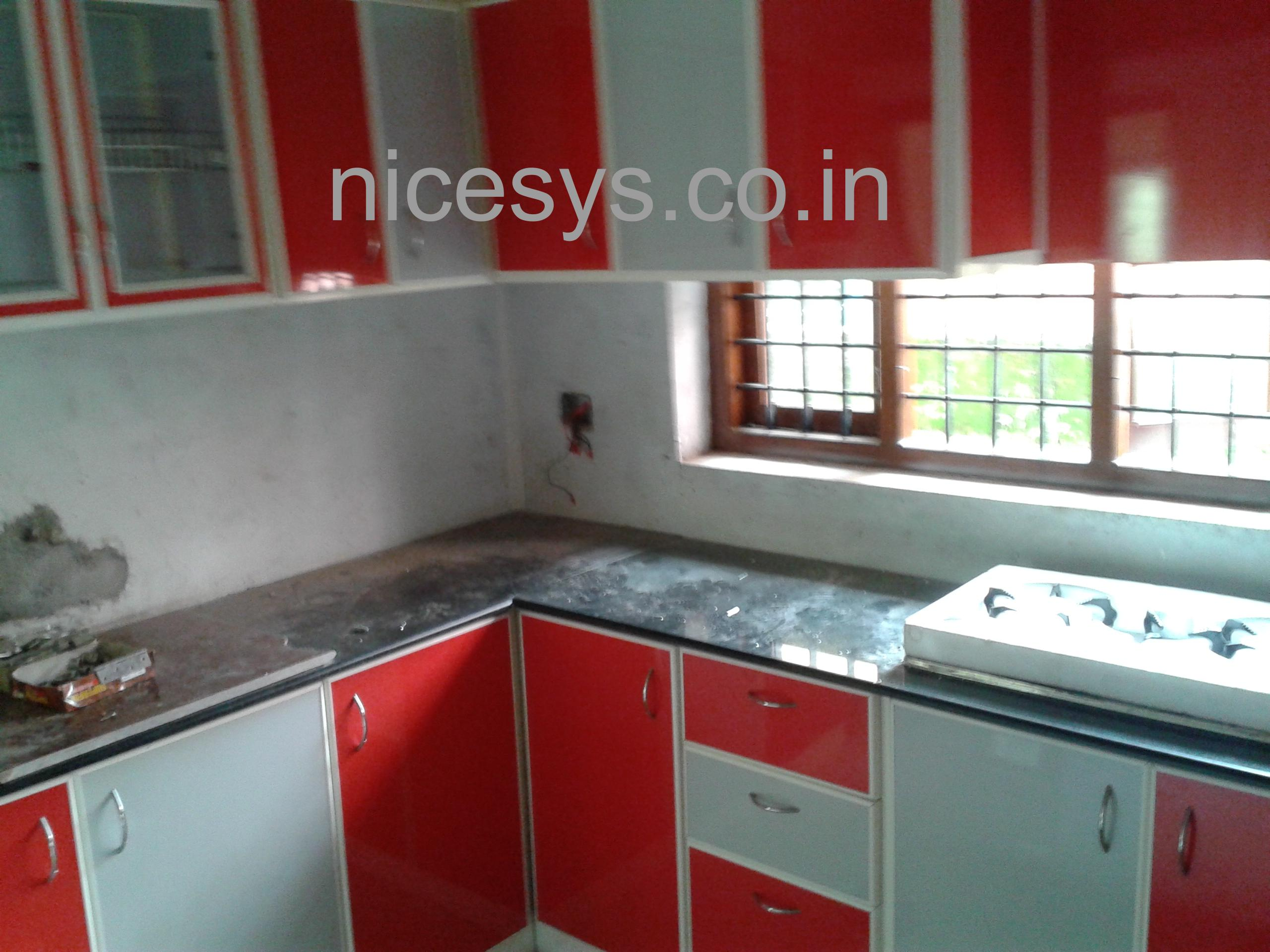 Nicesys aluminium interiors pvt ltd in kakkanad cochin for Modern kitchen design aluminium