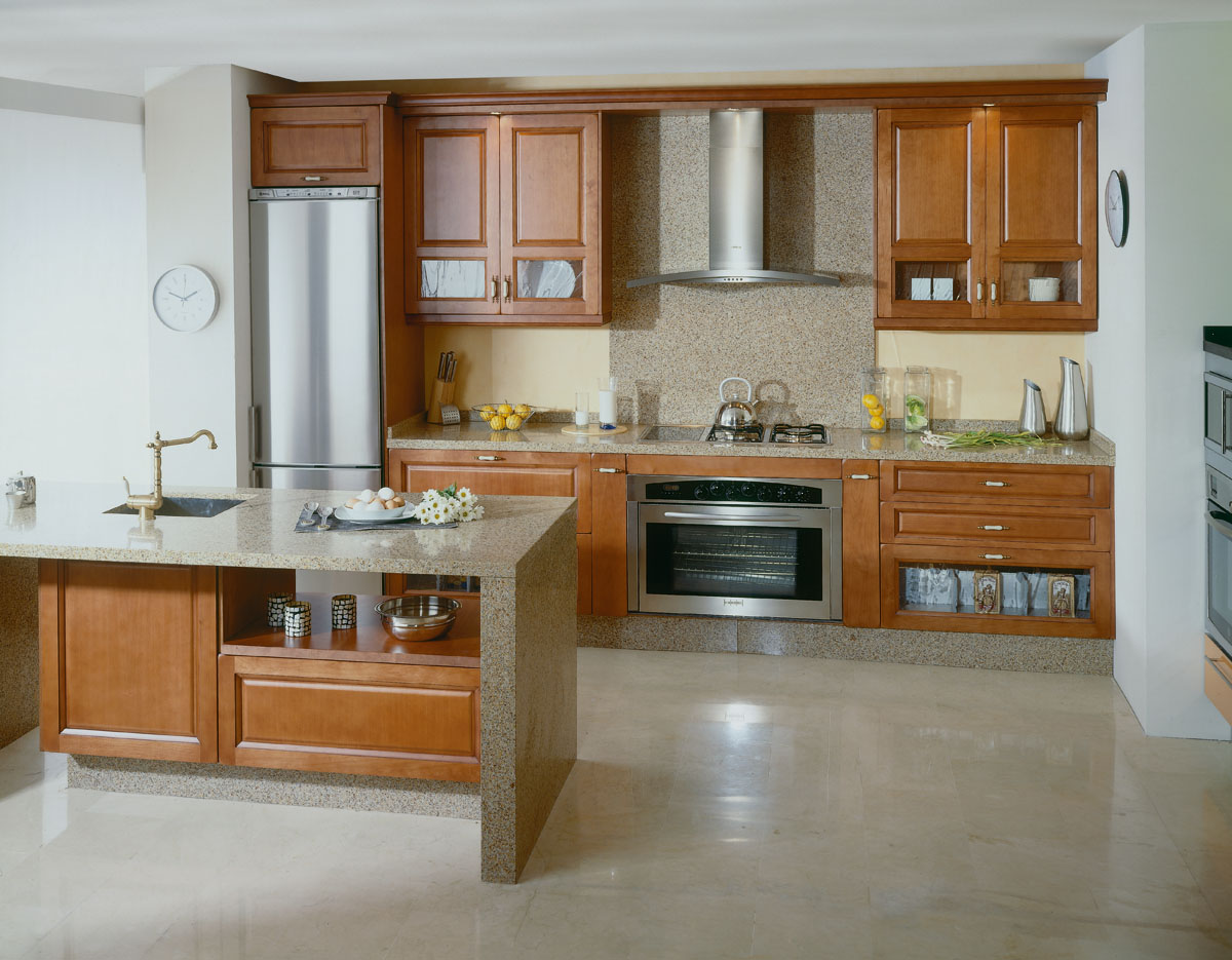 Wooden Kitchen. Types Of Wood For Kitchen Cabinets