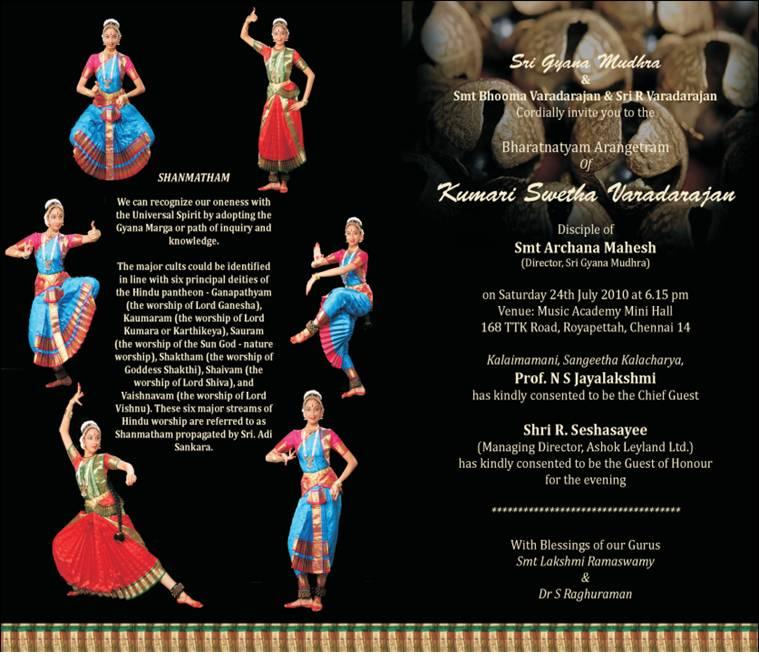 Arangetram Invitation Cards Samples Amazing Invitation Template