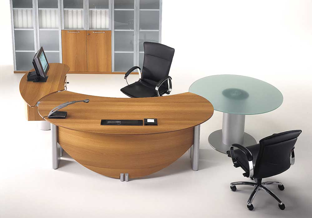 Different office desk designs for your work place for Table design for office